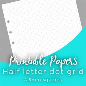 printable dot grid paper for a5 half letter planners With half letter paper