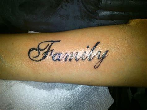 famliy tattoo lettering  sotoner  deviantart