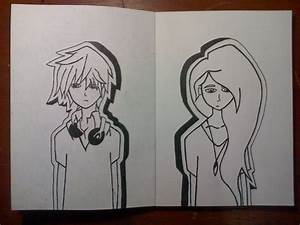 Sketch : Boy and Girl by rachmatarrmdhn on DeviantArt