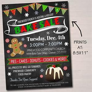 Bake Sale Posters Editable Holiday Bake Sale Flyer Printable Pta Pto