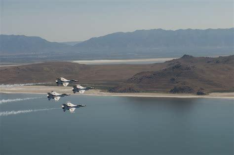 Scow Lake Utah by Return From Hill Afb Utah U S A F Thunderbirds