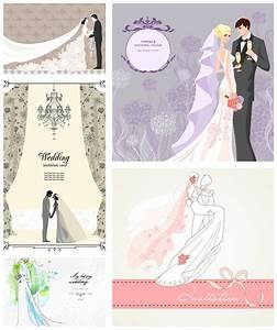 Bride And Groom Wedding Invitations Vector – Wedding ...