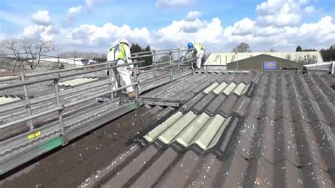 spandeck asbestos roof access youtube
