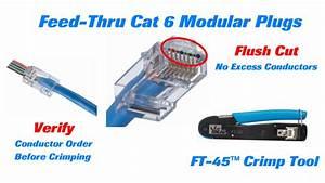Cat 5 Cat 6 : ideal cat 6 feed thru modular plugs long youtube ~ Eleganceandgraceweddings.com Haus und Dekorationen