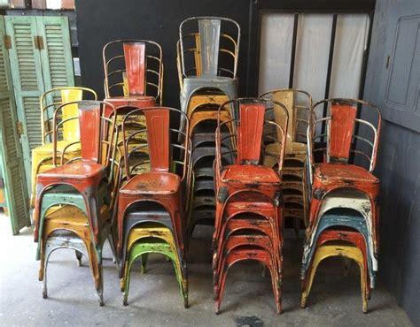 ensemble de  chaises tolix modele