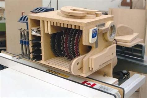 table  blade storage ideas woodworking projects plans