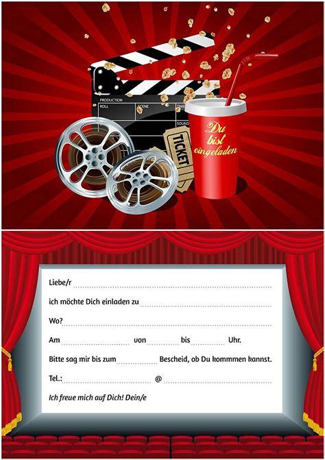 einladung kindergeburtstag kino texteinladung
