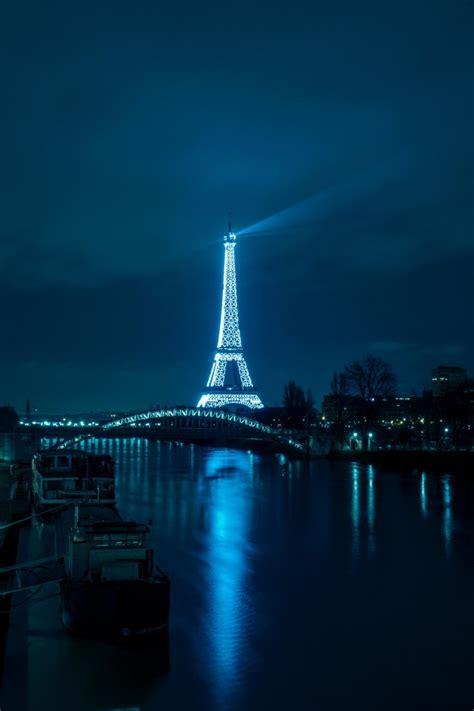 wallpaper eiffel tower cityscape night city lights