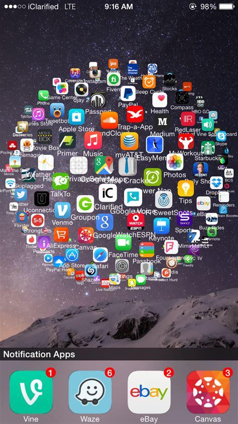 sphereview tweak replaces  iphone home screen