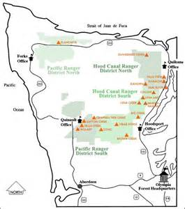 Olympic National Forest Campgrounds Map