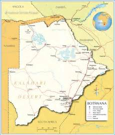 political map of botswana cities and towns in botswana map Botswana