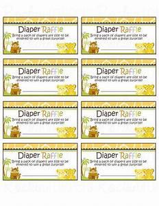 Free Diaper Raffle Template Lion King Inspired Diaper Raffle Ticket Neutral Diy