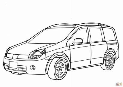 Coloring Nissan Pages Lafesta Minivan Drawing Funny