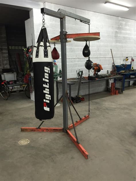 build  heavy bag stand home gym heavy bag stand