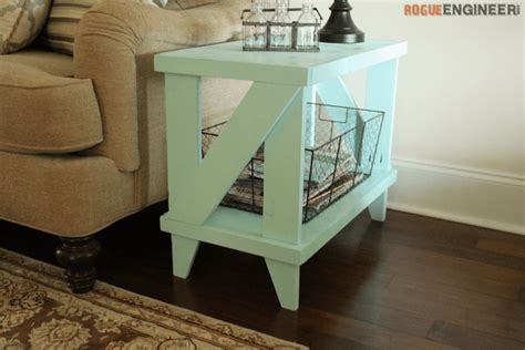 narrow cottage side table  diy plans rogue engineer