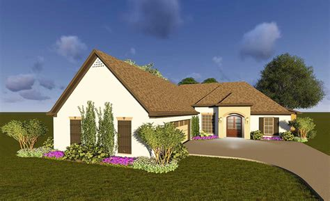 Southern House Plan With Courtyard Garage