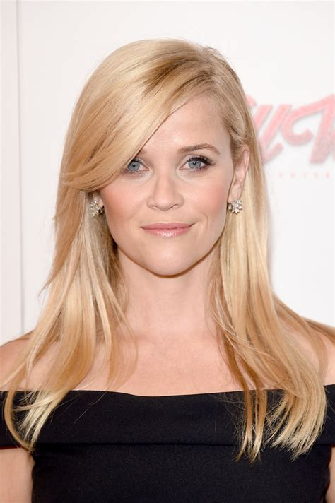 reese witherspoon long straight cut  bangs long