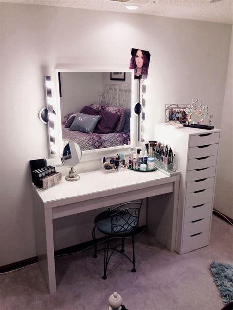 bureau maquilleuse vanité table de maquillage ikea maquilleuse