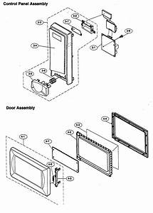 Control Panel Assy  Door Assy Diagram  U0026 Parts List For