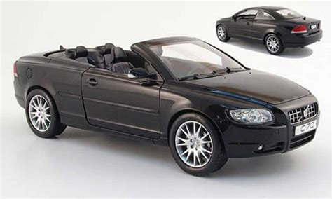 volvo  convertible black  powco diecast model car