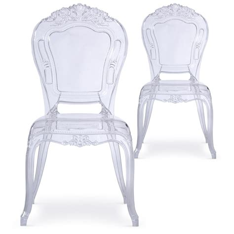 chaise plexi transparente chaise plexi transparent king lot de 2 lestendances fr