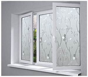 45x100cm 3d pvc flower pattern glass film frosted opaque With fenetre pvc opaque