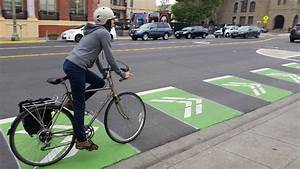 Protected Bike Lanes On Telegraph Avenue Open In Oakland