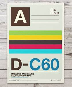 Retro Graphic Design Of Cassette Labels Turned Into ...