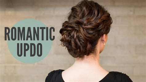 tocurly romantic updo youtube