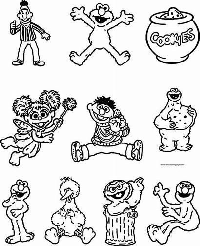 Coloring Street Sesame Cricut Friends Cartridge Pages