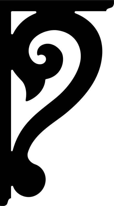 Hausnummer Schablonen Vorlagen by Template For Shelf Bracket Jigsaw Scroll Saw Diy