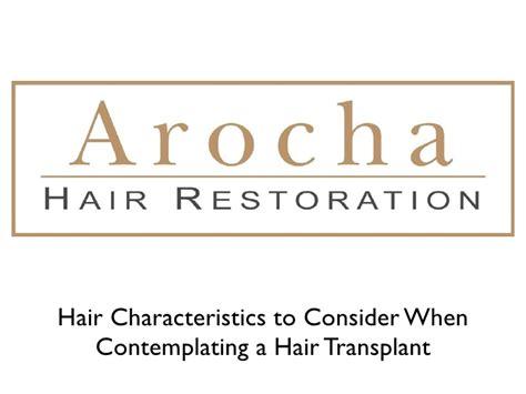 hair characteristics hair transplants
