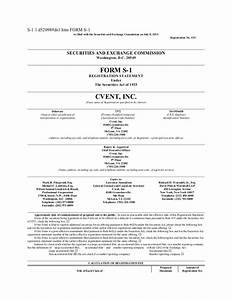 Cvent files for ipo s1 document for S 1 documents