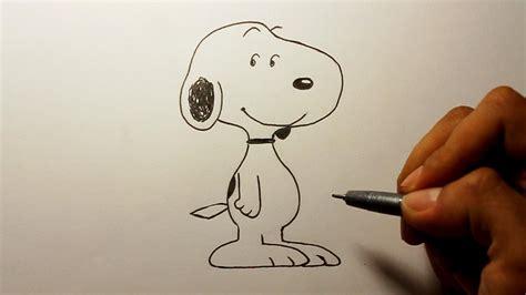 wie zeichnet man snoopy peanuts zeichen tutorial youtube