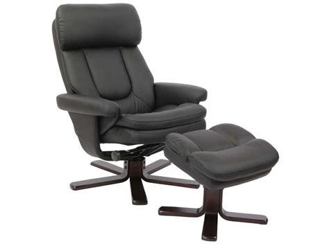 fauteuil relax bureau fauteuil relaxation repose pieds charles coloris noir en