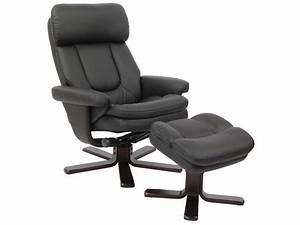 Repose Pied Salon : fauteuil relaxation repose pieds charles coloris noir en pu vente de tous les fauteuils ~ Teatrodelosmanantiales.com Idées de Décoration