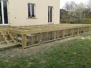 terrasse en composite sur pilotis With comment renover une terrasse en bois