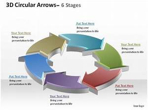 3d Circular Arrows Process Smartart 6 Stages Ppt Slides