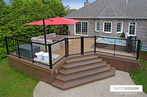 Patio Construction by Patio Design Construction Design De Patios Pour Un Spa