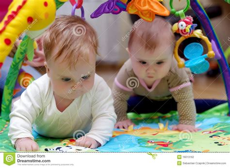 Babies Crawling Stock Photography Image 16013162