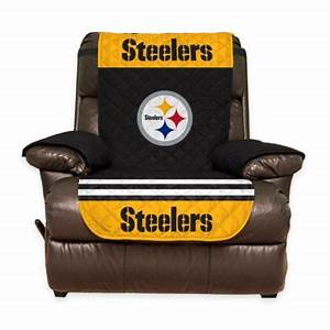 Buy nfl pittsburgh steelers sofa cover from bed bath beyond for Nfl furniture covers