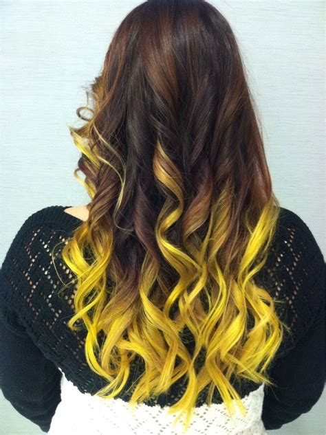 Pravana Neon Yellow Ombre Hair This Is What You Call Hair