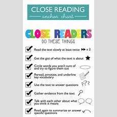Downloadable Close Reading Anchor Chart  Fourthgradefriendscom  Pinterest  Reading Anchor