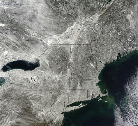 satellite image  snow northeast winter storm caught
