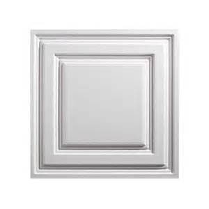 Vinyl Drop Ceiling Tiles 2x2 by Genesis Ceiling Tile 2x2 Icon Relief Tile In White