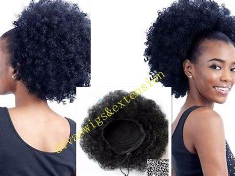 big afro puff natural hair tail human hair extensions