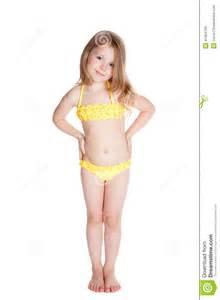 Yellow Little Girl Swimwear