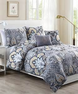 yellow gray chester comforter set contemporary comforters and comforter sets by zulily