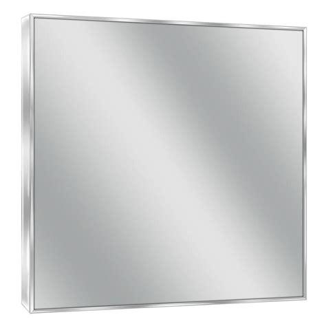 Modern Chrome Bathroom Mirrors by Deco Mirror 30 In W X 36 In H Spectrum Metal Single