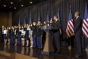President Obama Welcomes 20 Service Members Who Became ...